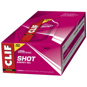 CLIF Bar Shot Gel Box 24 x 34g, Razz/Raspberry